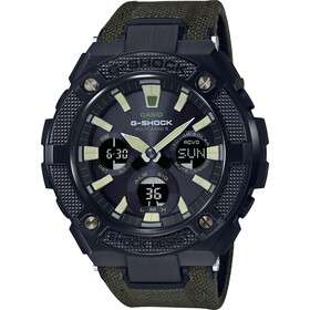 CASIO G-SHOCK GST-W130BC-1A3ER Watch Men, green black/grey chrom